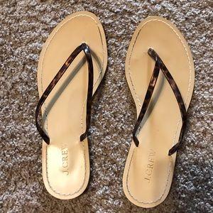 JCrew leopard thong sandal